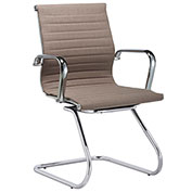 Storlie Slung Stitched Guest Chair with Arms - Fabric - Taupe - Jazz Series