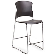 Storlie Caf&233; Height Bar Stool Polypropylene Black Composer Series