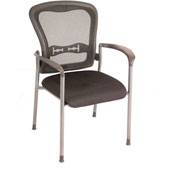 Storlie Harmony Collection Stackable Pace Mesh Back Guest Chair with Arms
