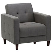 Storlie Classic Club Chair - Charcoal Fabric Upholstery - Piccolo Series