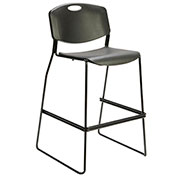 Storlie Caf&233; Height Bar Stool Polypropylene Black Lyric Series