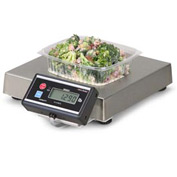 "Brecknell 6115 Touchless Zero Portion Digital Scale W/ Pan Stop 240 oz x 0.1 oz 13-7/16"" x 13-7/16"""