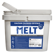 MELT 25 Lb. Bucket Calcium Chloride Crystals Ice Melter - MELT25CC-BKT