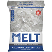 MELT 25 Lb. Bag Calcium Chloride Crystals Ice Melter - 100 Bags/Pallet MELT25CC-PLT