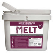 MELT 25 Lb. Bucket Beet-It Ice Melter w/ CMA & Beet Extract - MELT25IB-BKT
