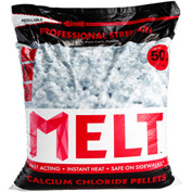 MELT 50 Lb. Bag Calcium Chloride Pellets Ice Melter, Resealable Bag 49/Pallet- MELT50CCP-PLT