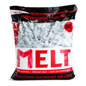MELT 50 Lb. Bag Calcium Chloride Pellets Ice Melter, Resealable Bag - MELT50CCP