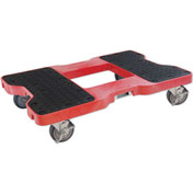 "Snap-Loc® SL1500D4R Dolly Red 1,500 Lb. Cap., Steel Frame, Strap Option, 4"" Casters"
