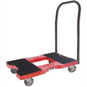 "Snap-Loc® SL1500P4R Push Cart Dolly Red 1,500 Lb. Cap., Steel Frame, Strap Option, 4"" Casters"