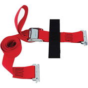 "Snap-Loc® SLTC208CR Cinch Strap 2""X8' Cam Red With Hook & Loop Storage Fastener"