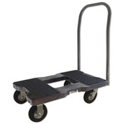 "Snap-Loc™ Air-Ride Push Cart Dolly  SL1500P6AB - 6"" Casters - 1500 Lb. -  Cap. - Black"