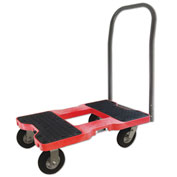 "Snap-Loc™ Air-Ride Push Cart Dolly  SL1500P6AR - 6"" Casters - 1500 Lb. Cap. - Red"