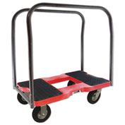 "Snap-Loc™ Air-Ride Panel Cart Dolly SL1500PC6AR - 6"" Casters - 1500 Lb. Cap. - Red"