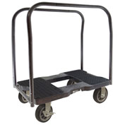 "Snap-Loc™ All-Terrain Panel Cart Dolly SL1500PC6B - 6"" Casters - 1500 Lb. Cap. - Black"