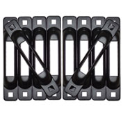 Snap-Loc™ Snaplocs E-Track Single Strap Anchors SLCSBT10 - Black - 10 Pack