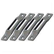Snap-Loc™ Snaplocs E-Track Single Strap Anchors SLCSZ4 - Zinc - 4 Pack