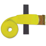 "Snap-Loc™ Flat-Hook Winch Strap with Hook & Loop Storage Fastener SLTHF430YI - 4""x30'"