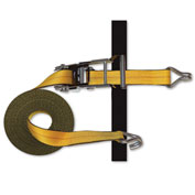 "Snap-Loc™ J-Hook Strap Expandable Ratchet w/Hook & Loop Storage Fastener SLTHJ227RYI - 2""x27'"