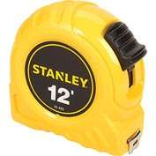 "Stanley 30-485 1/2"" x 12' High-Vis High Impact ABS Case Tape Rule"
