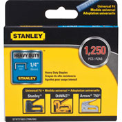 "Stanley® STHT71833  Heavy-Duty Narrow Crown Staples 1/4"" -1,250 Pack"
