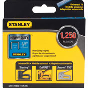"Stanley® STHT71836  Heavy-Duty Narrow Crown Staples 3/8"" -1,250 Pack"