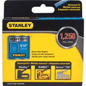 "Stanley® STHT71838  Heavy-Duty Narrow Crown Staples 9/16"" -1,250 Pack"