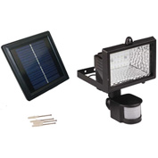 Solar Goes Green Solar Powered Motion Security Light SGG-PIR-28, Surface Mount, Outdoor, 1.2 Volt