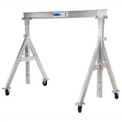 "2 Ton Cap., Spanco, Aluminum Gantry Crane, 10 ft. Span,  Adj Height 6'-8"" min. 9'-2"" max."