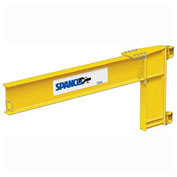 1/2 Ton Capacity, 10' span, Spanco 300 Series, Steel, Wall Mounted Jib Crane, Cantilever Design