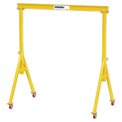 "5 Ton, Spanco, Portable, Steel Gantry Crane, 15' Span,  Adjustable Height 13'-7"" min. 17'-1"" max."
