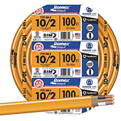 Southwire 28829023 Romex Cable With Ground, White, 10/2 Awg, 100 Ft - Pkg Qty 5