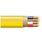 Southwire 63947623 Romex Cable With Ground, Yellow, 12/3 Awg, 100 Ft - Pkg Qty 5