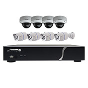 Speco ZIPT8BD2 8-Channel HD-TVI DVR and 4 Bullet Cameras + 4 Dome Cameras Kit, 2TB