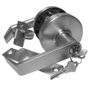 Grade 1 Leverset w/ Single Step Roses Privacy Lock - Dull Chrome