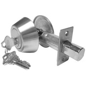 Hd Solid Bar Single Cylinder Deadbolt - Stainless Steel For Ic - Pkg Qty 2