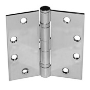 "Ball Bearing Hinge - 4-1/2"" X 4-1/2"" Heavy Dull Chrome Fixed Pin - Pkg Qty 6"