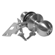 Hd Cyl. Locksets - Passage Set Stainless Steel - Pkg Qty 4