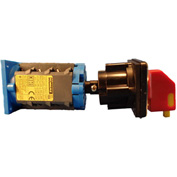 Springer Controls/MERZ A104-016-DR2,16A,3-Pole, Disconnect Switch, Red/Yellow, Din-Mount, Lockout