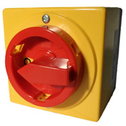 Springer Controls / MERZ A105-016-AR3E,16A, 3-Pole, Enclosed Disconnect Switch, Red/Yellow