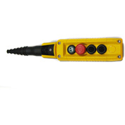 T.E.R., F70AY12020000001 MIKE Pendant, 4 Button, Yellow, 1-Speed Buttons
