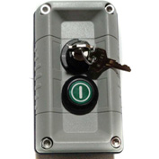 T.E.R., F71FG11000000002 VICTOR Wall Mount Control Station, Gray, 2 Hole, Key Stop + Start