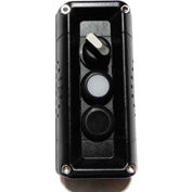 T.E.R., F71GB00020001001 VICTOR Wall Mnt. Control Station, Black, 3 Hole, 2 Pos. Selector+2 Funct.