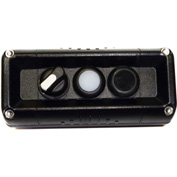 T.E.R., F71GB00020001002 VICTOR Wall Mnt. Control Station, Black, 3 Hole, 3 Pos. Selector+2 Funct.
