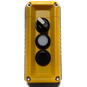 T.E.R., F71GY00020001001 VICTOR Wall Mnt. Control Station, Yellow, 3 Hole, 2 Pos. Selector+2 Funct.