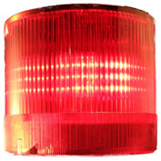 Springer Controls / Texelco LA-12-15 70mm Stack Light, Steady, 120V AC/DC BULB - Red
