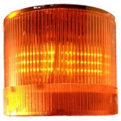 Springer Controls / Texelco LA-13-15 70mm Stack Light, Steady, 120V AC/DC BULB - Amber