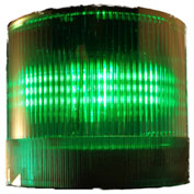 Springer Controls / Texelco LA-25-24 70mm Stack Light, Flashing, 24V AC/DC BULB - Green