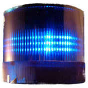 Springer Controls / Texelco LA-26-15 70mm Stack Light, Flashing, 120V AC/DC BULB - Blue