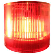 Springer Controls / Texelco LA-32-15 70mm Stack Light, Strobe, 120V AC/DC Xenon BULB - Red