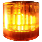 Springer Controls / Texelco LA-33-15 70mm Stack Light, Strobe, 120V AC/DC Xenon BULB - Amber